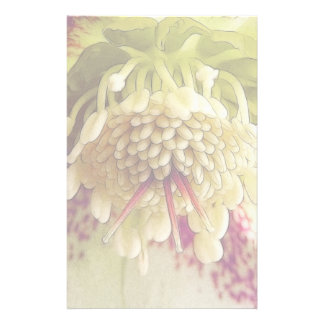White And Purple Hellebore Customised Stationery