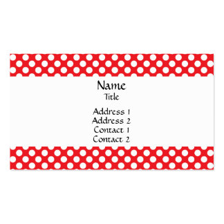 White and Red Polka Dot Pack Of Standard Business Cards