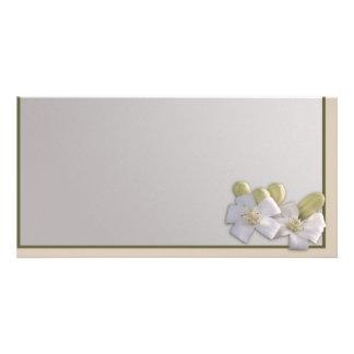 White Blossom Photo Cards