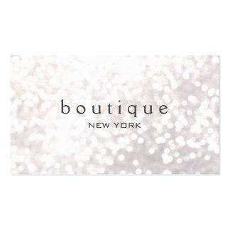 White Bokeh Glitter Modern Fashion & Beauty Pack Of Standard Business Cards
