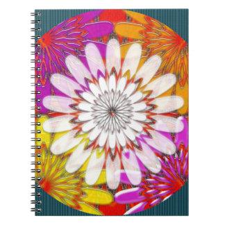 WHITE bright SUN Chakra Sunflower Yoga Mandala FUN Notebooks