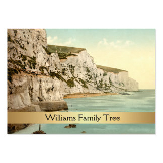 White Cliffs of Dover, England Family Tree Pack Of Chubby Business Cards