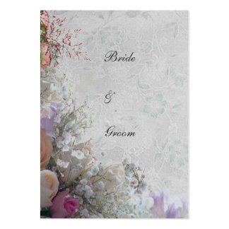 White Dream Wedding Thank You Pack Of Chubby Business Cards