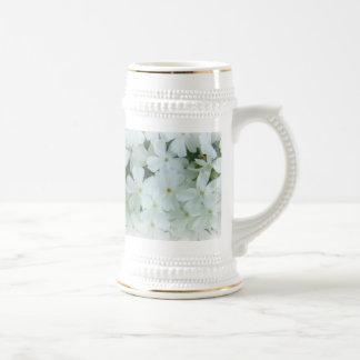 white floral customizable Mug