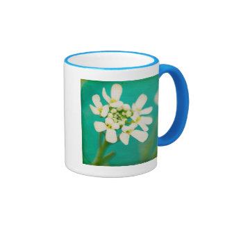 White Flowers III Ringer Mug