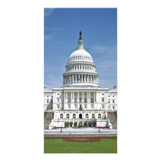 White House US Capitol Building Washington DC Personalised Photo Card