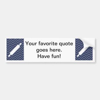 White Kitchen - Rolling pin on chevron. Bumper Sticker