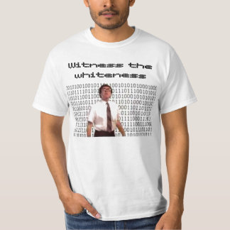 white-n-nerdy, Witness the whiteness T-shirt
