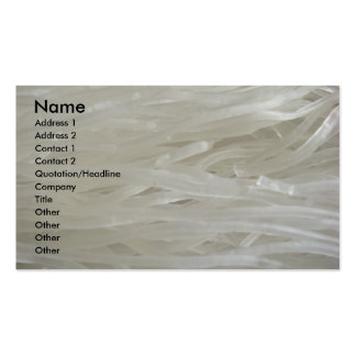 White Noodles Pack Of Standard Business Cards