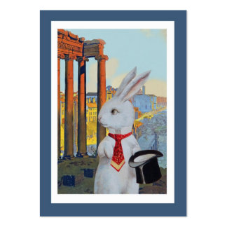 White Rabbit in Rome and Paris - Two Sided Pack Of Chubby Business Cards