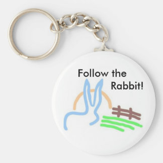 White Rabbit Promotions Basic Round Button Key Ring