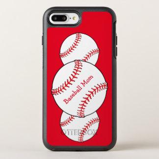 White Red Baseball Mom OtterBox Symmetry iPhone 7 Plus Case