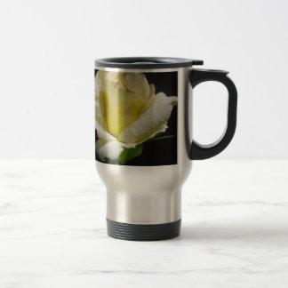White Rose Stainless Steel Travel Mug