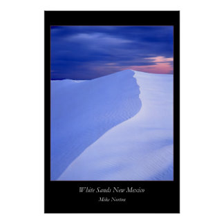 White Sands Evening New Mexico Poster