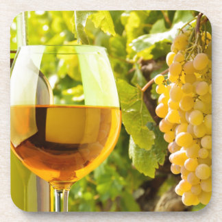 White Wine And Grapes Drink Coasters