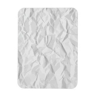 White wrinkled paper texture rectangular photo magnet