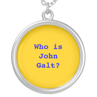 Who is John Galt? Round Pendant Necklace
