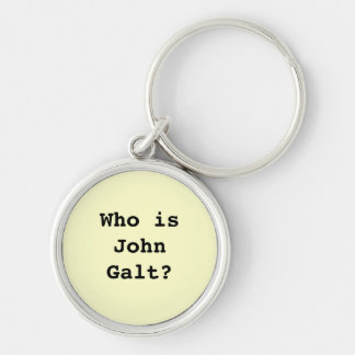 Who is John Galt? Silver-Colored Round Key Ring