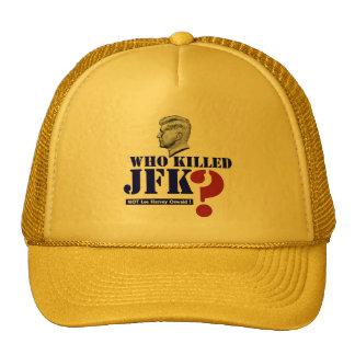 Who killed John Fitzgerald Kennedy? Cap