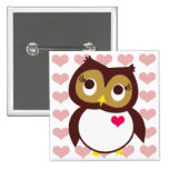 Whoo Loves You 15 Cm Square Badge