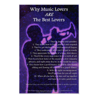 Why Music Lovers Are The Best Lovers Poster