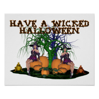Wicked Witches Halloween Poster
