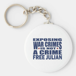 WikiLeaks - Julian Assange Basic Round Button Key Ring