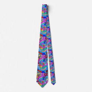 wild 70's love colors tie
