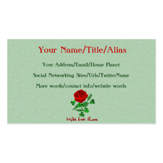 Wild Irish Rose Pack Of Standard Business Cards
