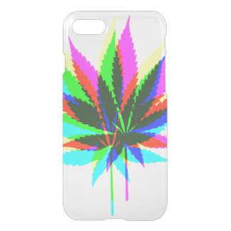 Wild Plant Leafs - neon colored + your ideas iPhone 7 Case