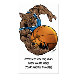 Wildcats or BobCats Basketball Player by Al Rio Pack Of Standard Business Cards
