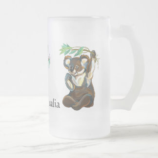 wildlife of Australia Frosted Glass Mug
