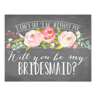 Will You Be My Bridesmaid | Bridesmaid 11 Cm X 14 Cm Invitation Card
