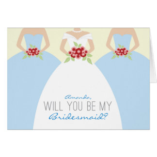 Will You Be My Bridesmaid Card (light blue)