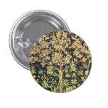 William Morris Tree Of Life Vintage Pre-Raphaelite 3 Cm Round Badge