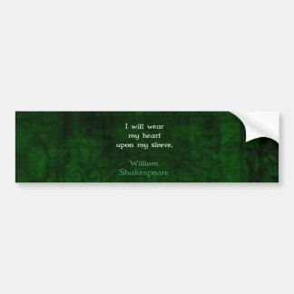 William Shakespeare Whimsical LOVE Quote Bumper Sticker