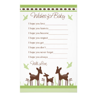 Willow Deer Family Wishes for Baby Letter Personalized Stationery