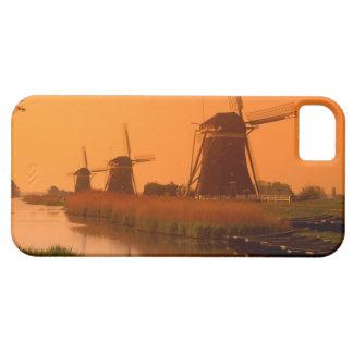 Windmills at sunset, Leidschendam, Netherlands iPhone 5 Cases