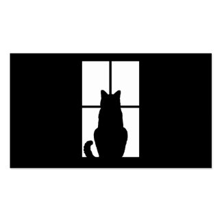 Window Cat Click to Customize Get any color decor Pack Of Standard Business Cards