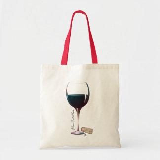 Wine Glass Art Personalised Logo Budget Tote Bag