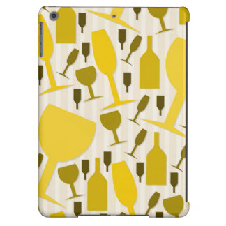 Wine glass pattern iPad air cover