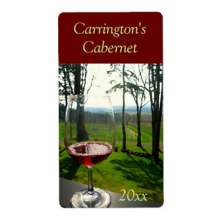 Wine Glass Wine Label Shipping Label