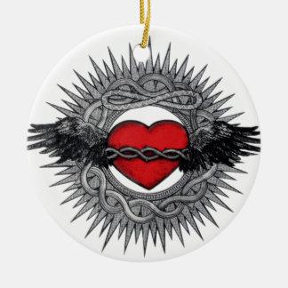 Winged Desire by TEO Round Ceramic Decoration