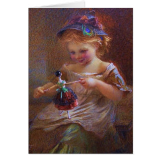 Winsome Little Girl Greeting Card