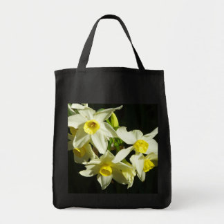 Winter Flowers Grocery Tote Bag