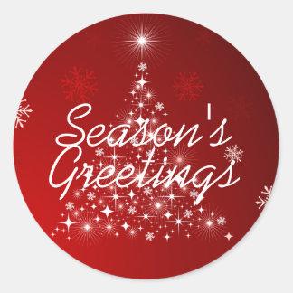 Winter Glow • Season's Greetings Round Sticker