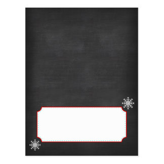 Winter ONEderland Chalkboard Buffet Cards Postcard