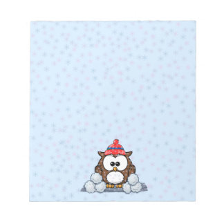 winter owl memo notepad