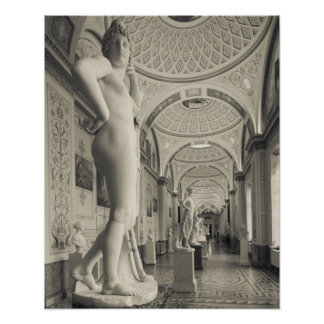 Winter Palace, Hermitage Museum, statue gallery 2 Poster
