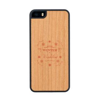 Winter Wonderland Let it Snow Ski Season Christmas Wood iPhone SE/5/5s Case